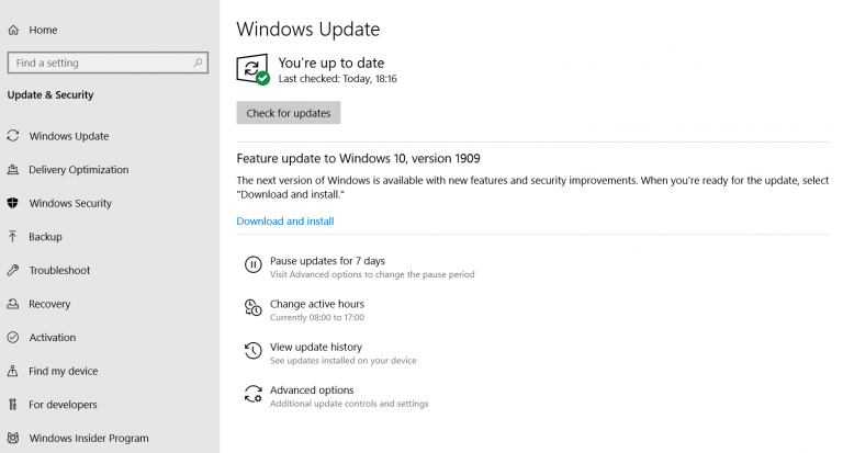 Secure your PC with Windows updates