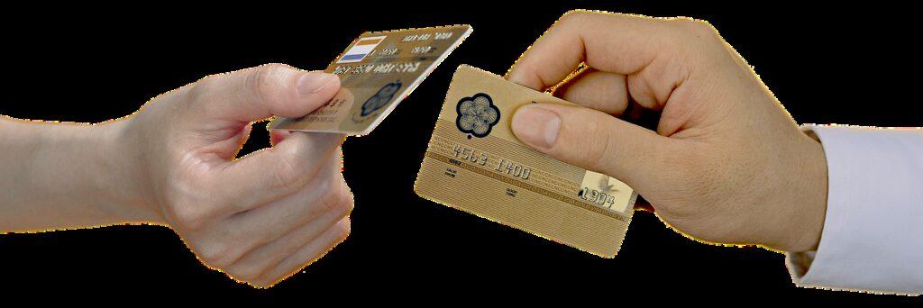 hand, bank card, bank